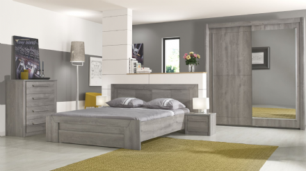 Eden Bed Light Grey Oak